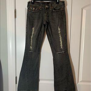 True Religion Jeans Joey, gray distressed size 26
